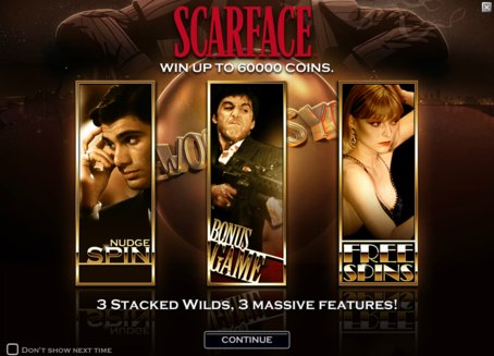 ComeOn Give you 10 freespins on Netent slot Scarface